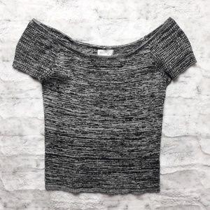 Full Tilt| Knit Off Shoulder Crop Top